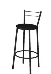Cadeira Banqueta Preta Texas Teixeira - Preto - Dafiti