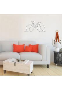 Escultura De Parede Em Mdf Bike Branco - Médio