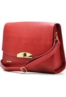 Bolsa Hendy Bag Couro Feminina - Feminino-Vermelho Escuro