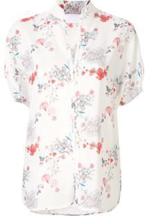 Mame Kurogouchi Blusa Com Estampa Floral - Branco