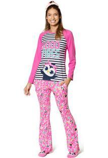 Pijama Pinguim- Rosa & Azul Marinhopuket