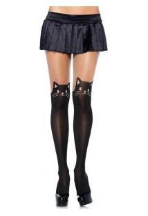"Meia-Calça Black Cat Leg Avenue (7908) ""Black Cat Opaque Pantyhose"""