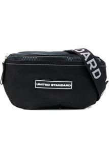 United Standard Bolsa Tiracolo Com Patch De Logo - Preto