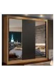 Guarda-Roupa Casal Madesa Lyon 3 Portas De Correr Com Espelhos 2 Gavetas