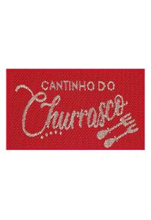 Tapete Cantinho Churrasco S-516 Vermelho