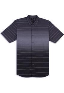 Camisa Masc Mod Stripes Ss Woven