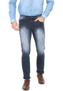 Calça Jeans Aleatory Slim Estonada Azul