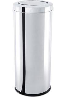 Lixeira Com Tampa Basculante- Inox- 60Xø30Cm- 40Brinox