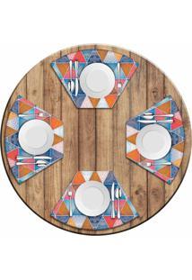 Jogo Americano Love Decor Para Mesa Redonda Wevans Abstract Mandalas Kit Com 4 Pçs - Kanui
