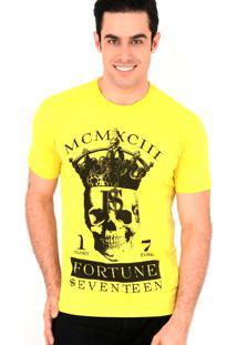 Camiseta Fortune 17 King Skull Amarelo