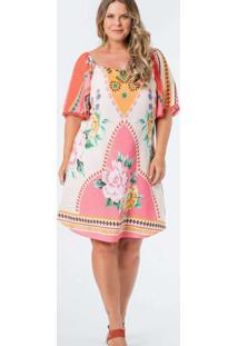 Vestido Almaria Plus Size Munny Curto Estampado Ve