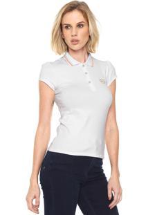 ... Camisa Polo Lunender Bordado Branca 1c19bff1f5b1e