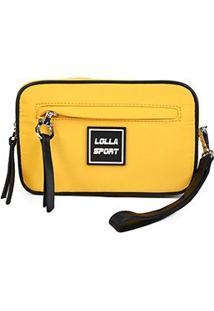 Necessaire Santa Lolla Nylon Sport - Feminino-Amarelo
