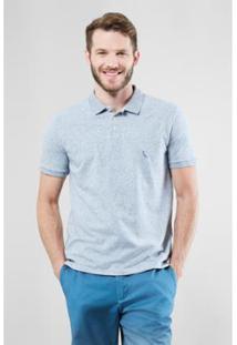 Camisa Polo Reserva Diferenciada Areia Masculino - Masculino-Azul Claro