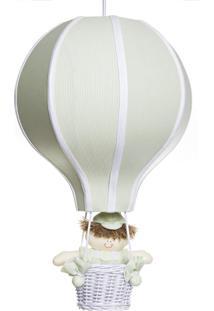 Lustre Balão Grande Com Boneco Bebê Infantil Menino Potinho De Mel Verde - Kanui
