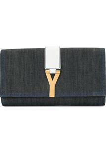 Yves Saint Laurent Pre-Owned Clutch Classic Y Ligne - Azul