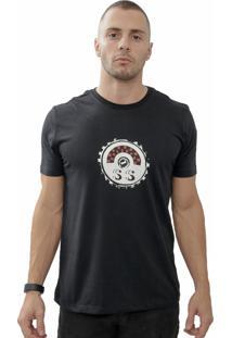 Camiseta Cheiro De Gasolina Tampa De Combustível Ss Preta