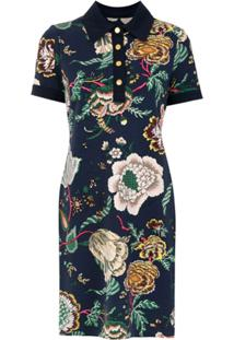 Tory Burch Vestido Polo Estampado