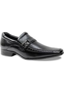 Sapato Social Rafarillo Com Fivela - Masculino-Preto