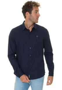 Camisa Timberland Cotton Essential Masculina - Masculino-Marinho