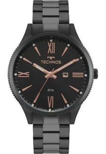 Relógio Technos Fashion Trend 2015Ccq/4P 41Mm Aço Feminino - Feminino