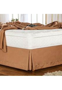 Saia Para Cama Box King Soft Touch Café