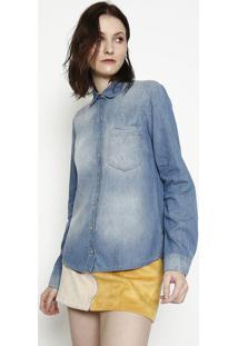 Camisa Jeans Estonada - Azul - Sommersommer