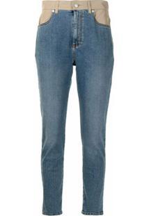 Alexander Mcqueen Calça Jeans Skinny Com Recortes - Azul