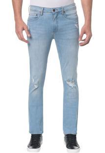 Calça Jeans Five Pocktes Slim Ckj 026 Slim - Azul Claro - 36