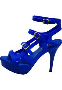 Sandália Arrive Fashion Gladiadora Do Samba Azul