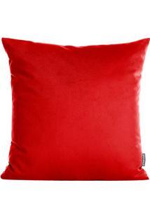 Capa Para Almofada Texturizada- Vermelha- 42X42Cm