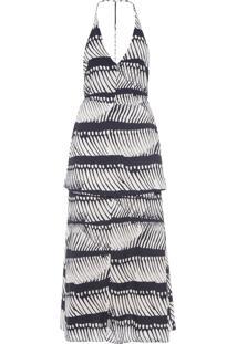 Vestido Over Skirt Pirarucu Spine - Preto E Off White