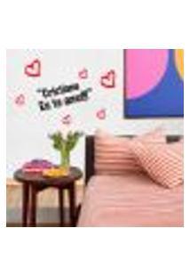 Adesivo De Parede Dia Dos Namorados Eu Te Amo - P 31X35Cm