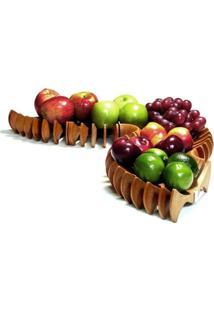 Fruteira Centopéia Com Imã - Fibra De Madeira