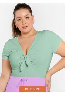 Blusa Com Detalhe No Decote Verde