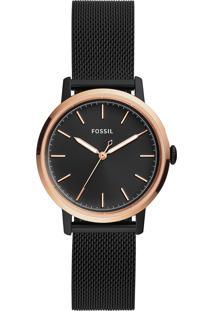 Relógio Analógico Feminino Fossil Neely Es4467/1Pn Preto