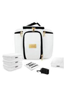 Bolsa Térmica Fitness Premium Couro Branco G .