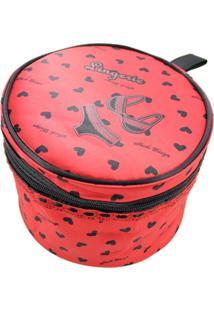 Necessaire Para Lingerie Tecido Coração Jacki Design Valentine Vermelho