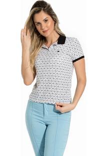 Camisa Polo Meia Malha Feminina