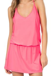 Vestido Live Strappy Refresh Tropicalia Rosa P