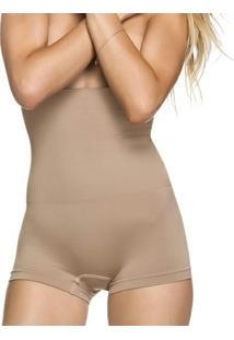Calcinha Modeladora Boxer Alta Sem Costura - Feminino