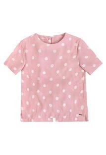 Blusa Feminina Em Crepe E Viscose Estampado - Especial Dia Das Mães Dzarm + Puc