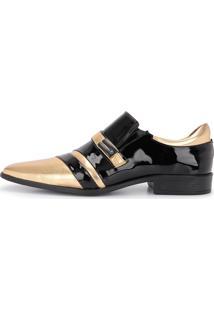 Sapato Social Gofer 12224 Dourado/Preto