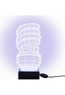 Luminária Acrilize Lâmpada 3D Incolor