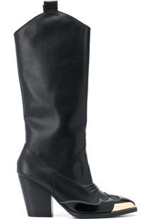 Versace Jeans Couture Bota Com Cap-Toe - Preto
