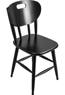 Cadeira De Madeira Para Bar Cozinha Sala De Jantar Com Encosto Anatômico - Tambo