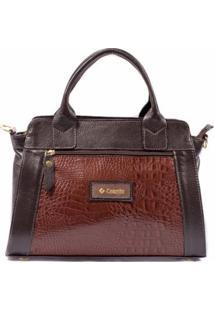Bolsa Couribi Couro Legítimo Texturizado Mini Bag Alça Transversal - Feminino