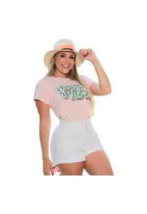 Camiseta T-Shirt Geb Good Vibes Rosa