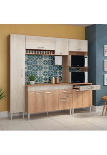 Cozinha Compacta C/Tampo Classic01 Fosco Flex Bordô – Fellicci - Carvalho / Blanche