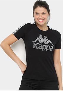 Camiseta Kappa Authentic Feminina - Feminino-Preto